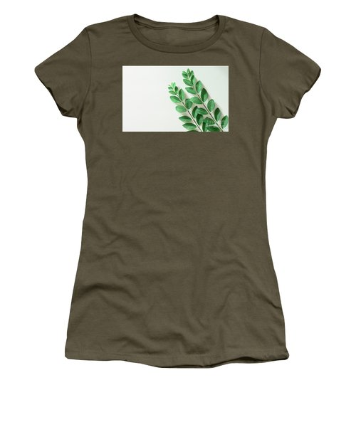 Women's T-Shirt (Athletic Fit) featuring the photograph Minimal Green by Andrea Anderegg