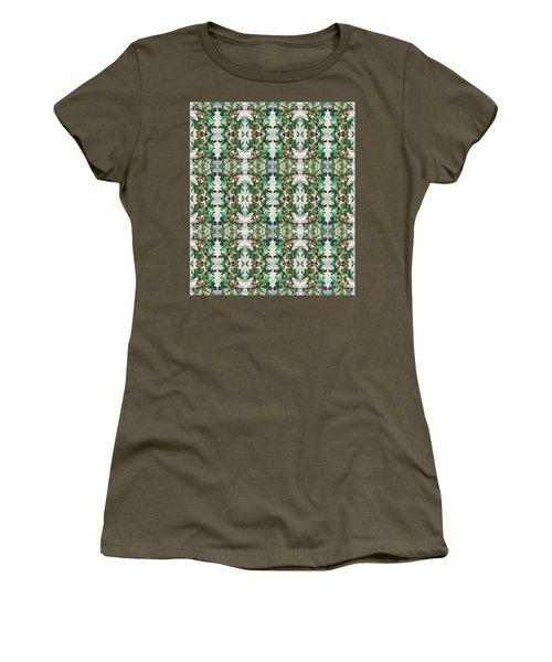 Mirror Image Of Acorns On An Oak Tree Women's T-Shirt