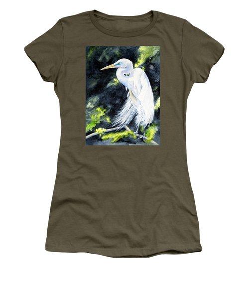 Miss April - Great Egret Women's T-Shirt