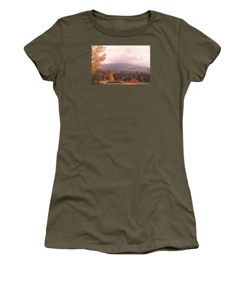 Mist On The Mountains Women's T-Shirt (Athletic Fit)