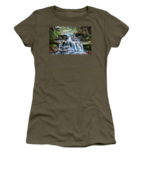 Women's T-Shirt (Athletic Fit) featuring the photograph Misty Falls by Az Jackson