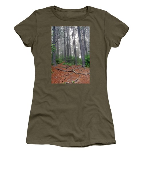 Misty Morning In An Algonquin Forest Women's T-Shirt
