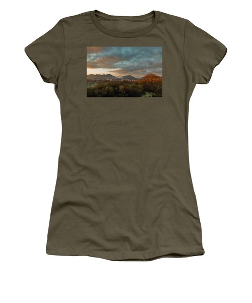 Misty Morning Over The San Diego River Women's T-Shirt