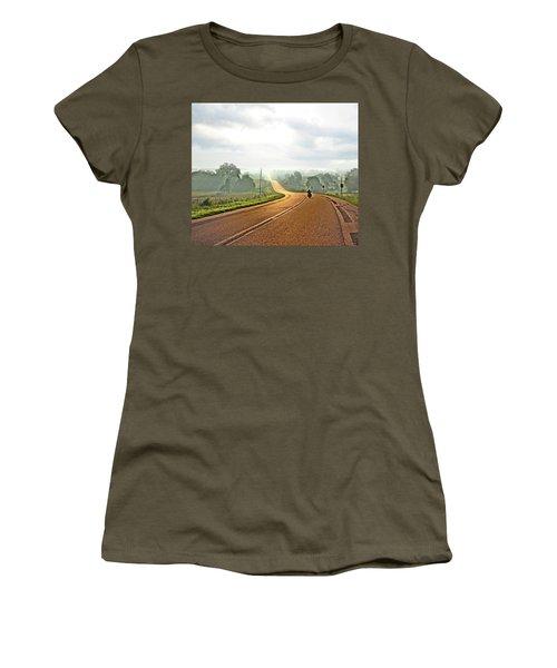 Misty Morning Ride Arkansas Women's T-Shirt (Athletic Fit)