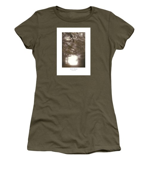 Women's T-Shirt featuring the digital art Misty Road by Julian Perry