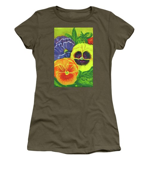 Mixed Pansy  Women's T-Shirt (Athletic Fit)
