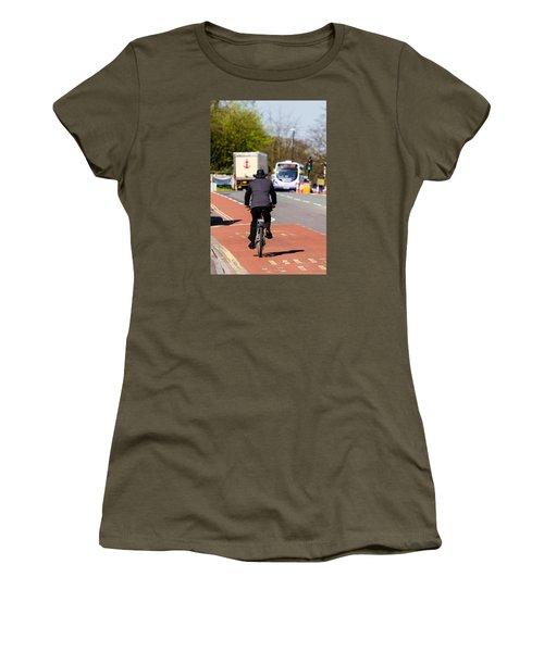 Modern Cowboy On Bike Women's T-Shirt