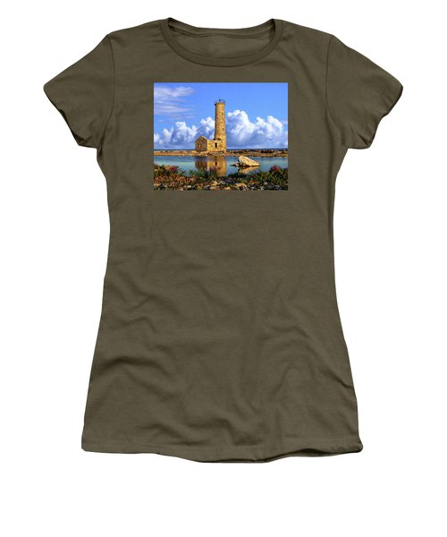 Mohawk Island Lighthouse Women's T-Shirt (Junior Cut) by Anthony Dezenzio