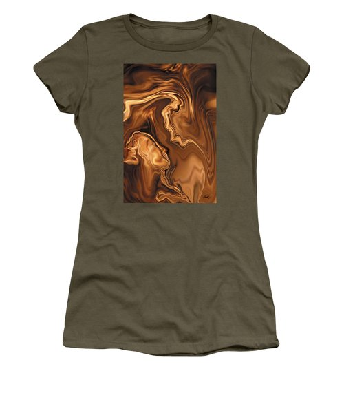 Women's T-Shirt (Junior Cut) featuring the digital art Moment Before The Kiss by Rabi Khan