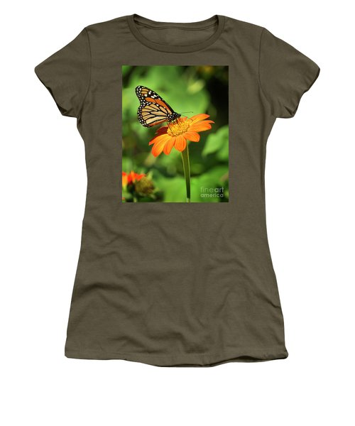 Monarch Butterfly II Vertical Women's T-Shirt (Athletic Fit)