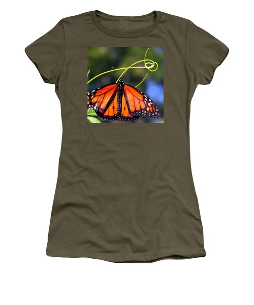 Women's T-Shirt (Junior Cut) featuring the photograph Monarch Butterfly by Laurel Talabere