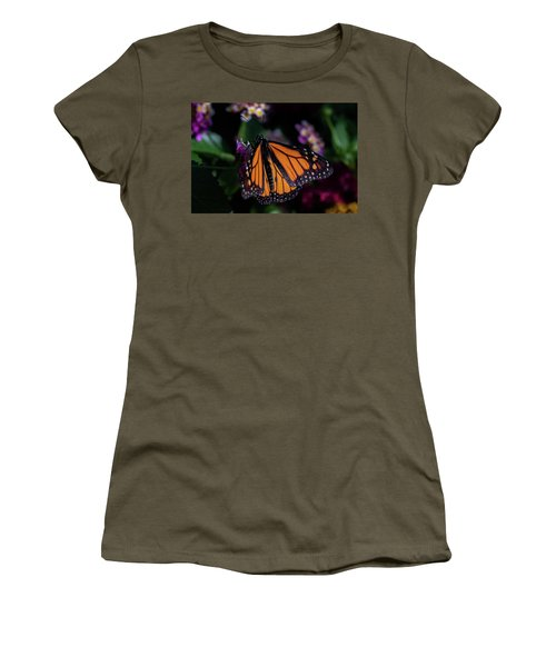 Women's T-Shirt (Junior Cut) featuring the photograph Monarch by Jay Stockhaus