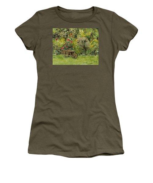 Monet's Garden Wheelbarrel Women's T-Shirt