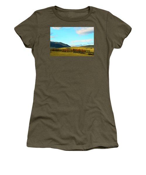 Montana Fall Trees Women's T-Shirt