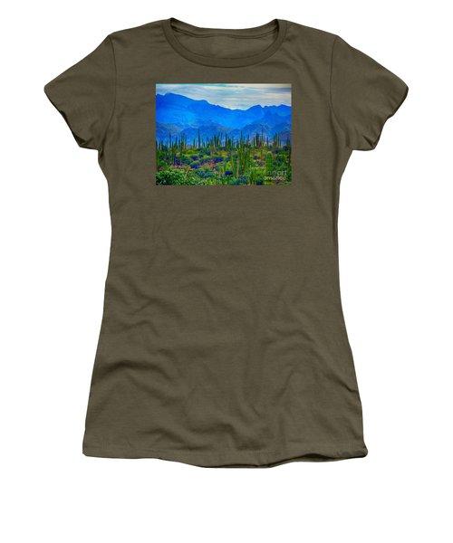 Montanas Cerca De Loreto Women's T-Shirt (Junior Cut) by Gerhardt Isringhaus