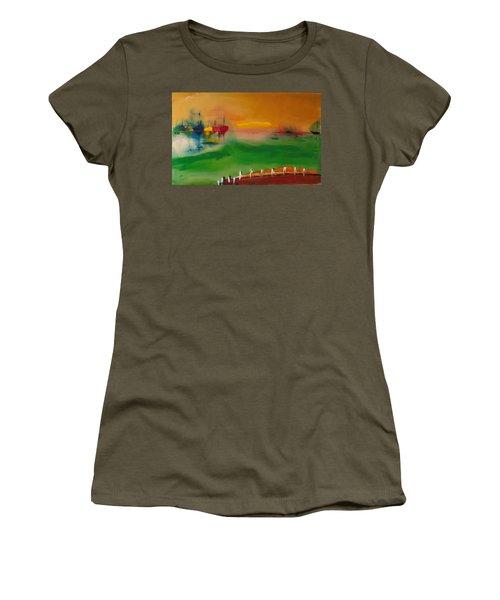 Montauk Marina Women's T-Shirt (Athletic Fit)