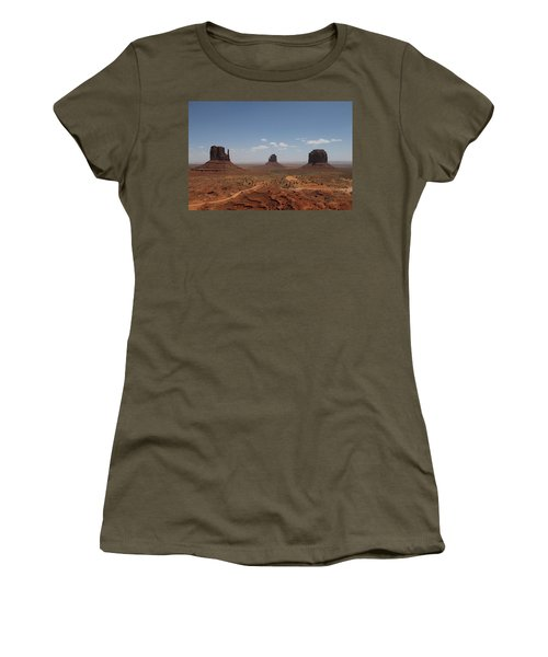 Monument Valley Navajo Park Women's T-Shirt (Junior Cut) by Christopher Kirby