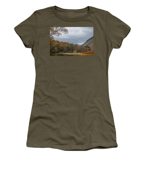 Moody Clouds Over A Boathouse On Wast Water In The Lake District Women's T-Shirt