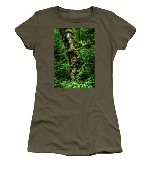 Moody Tree In Forest Women's T-Shirt