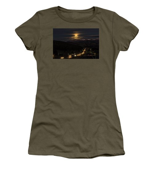 Moon Over Genessee Women's T-Shirt (Athletic Fit)