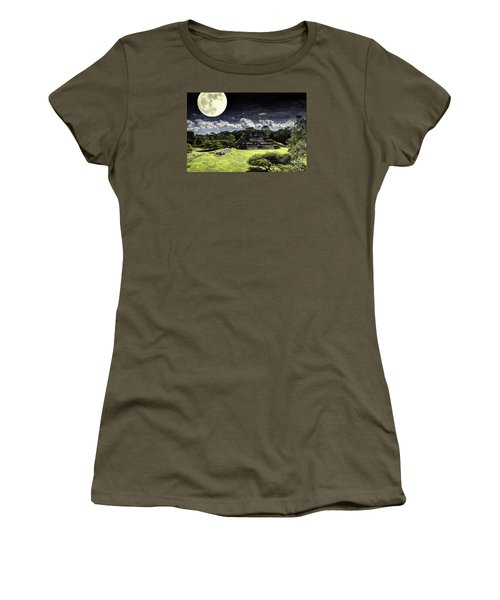 Moon Over Mayan Temple One Women's T-Shirt (Athletic Fit)