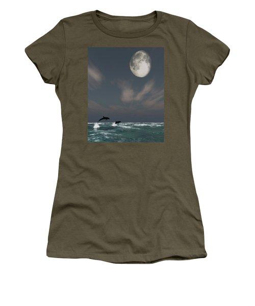 Moonlight Swim Women's T-Shirt