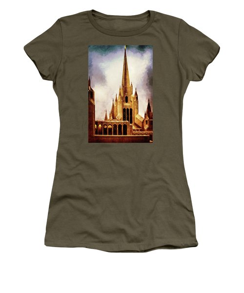 Mormon Temple Steeple Women's T-Shirt (Athletic Fit)