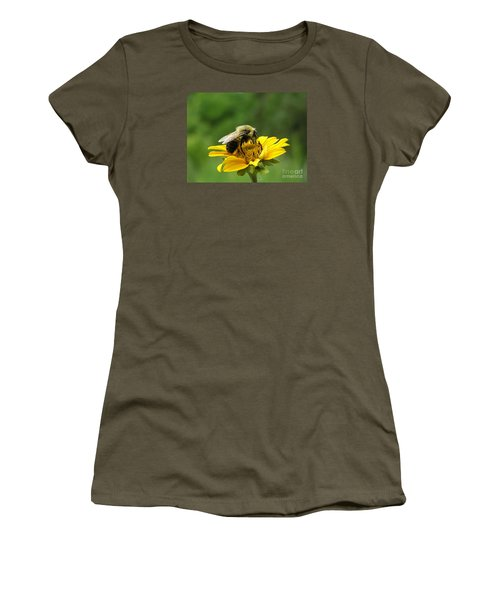 Women's T-Shirt (Junior Cut) featuring the photograph Morning Bee by Susan  Dimitrakopoulos