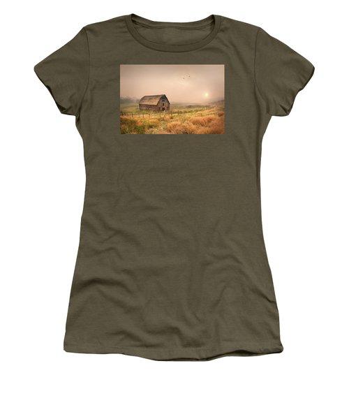 Women's T-Shirt (Junior Cut) featuring the photograph Morning Flight by John Poon