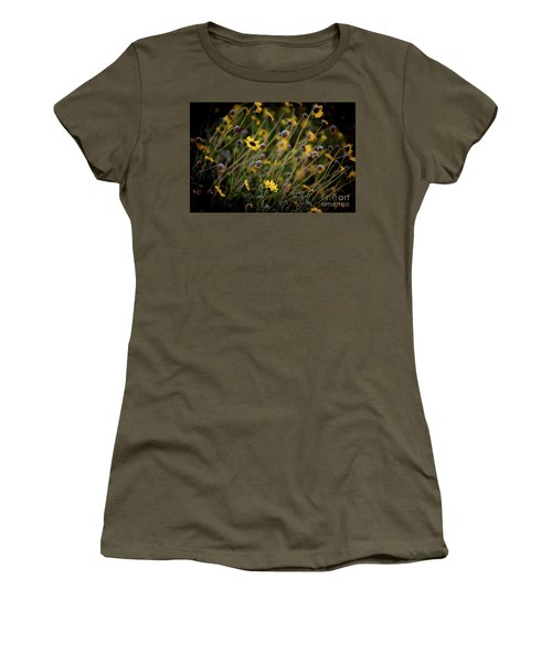 Women's T-Shirt (Junior Cut) featuring the photograph Morning Flowers by Kelly Wade