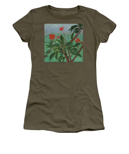 Morning Fog In The Garden Women's T-Shirt