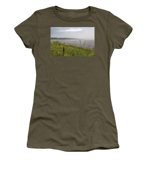 Women's T-Shirt (Athletic Fit) featuring the photograph Morning Fog by John M Bailey