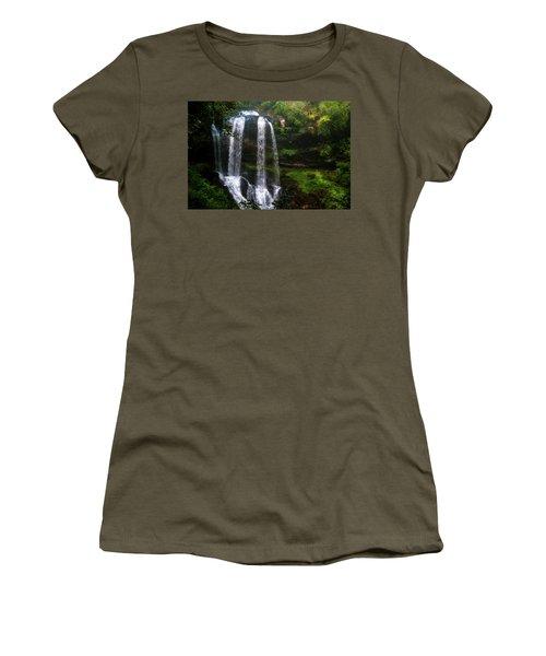 Women's T-Shirt (Junior Cut) featuring the photograph Morning In The Mist by Allen Carroll