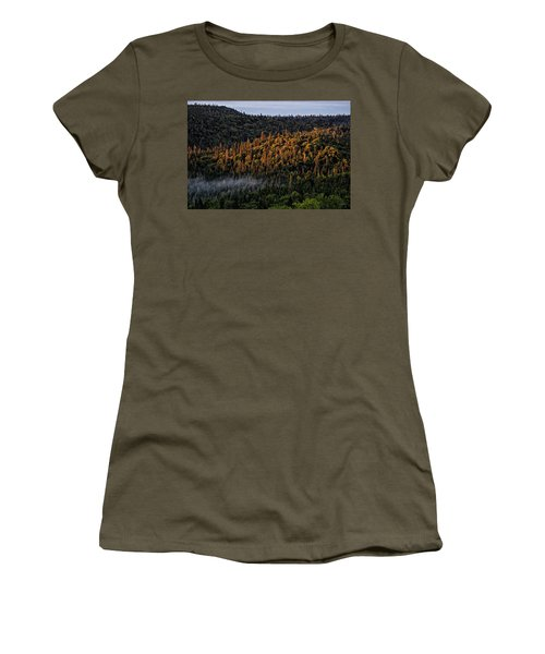 Women's T-Shirt featuring the photograph Morning Kiss by Doug Gibbons