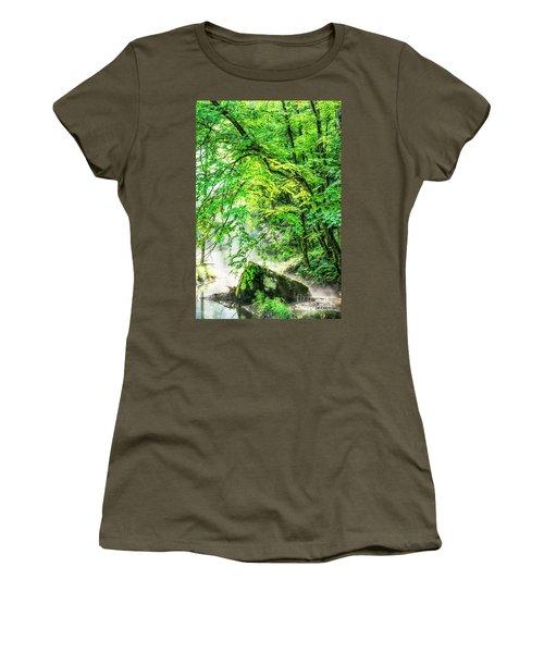 Morning Light In The Forest Women's T-Shirt