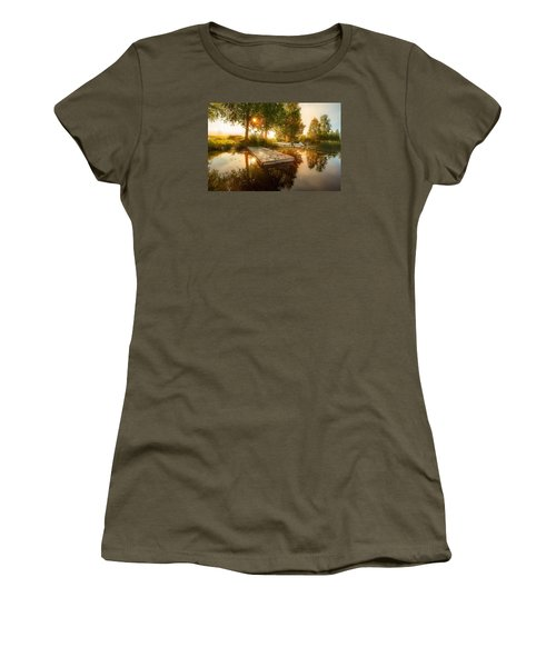 Women's T-Shirt (Junior Cut) featuring the photograph Morning Light by Rose-Maries Pictures