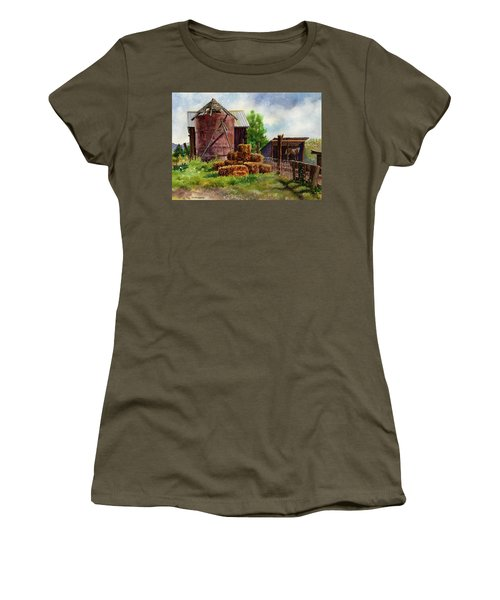 Morning On The Farm Women's T-Shirt (Junior Cut) by Anne Gifford
