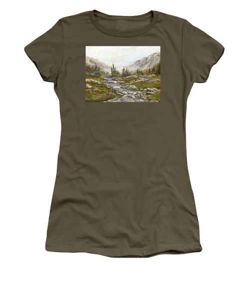 Morning Rising Fog Women's T-Shirt (Junior Cut) by Dorothy Maier