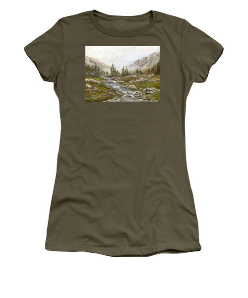 Morning Rising Fog Women's T-Shirt (Athletic Fit)