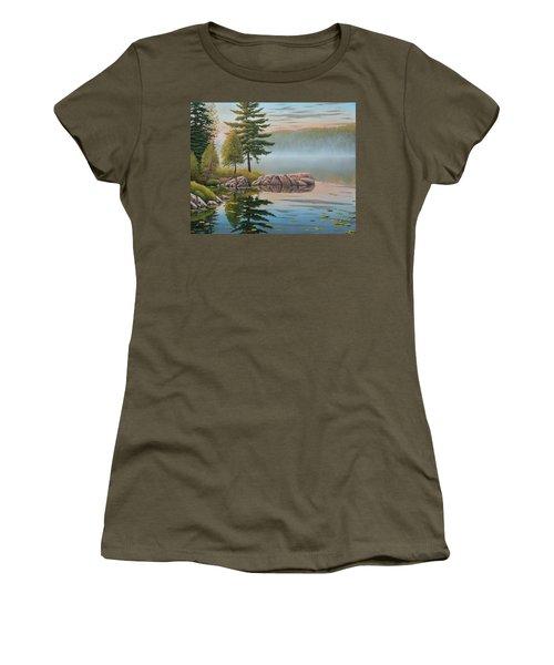Morning Stillness Women's T-Shirt (Athletic Fit)
