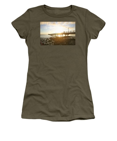 Morning Sunshine At The Pier  Women's T-Shirt