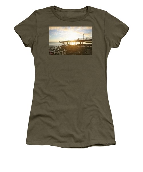 Morning Sunshine At The Pier  Women's T-Shirt