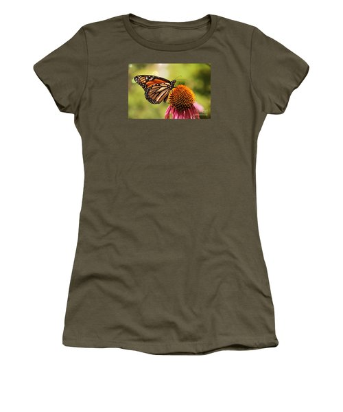Women's T-Shirt (Junior Cut) featuring the photograph Morning Wings by Yumi Johnson