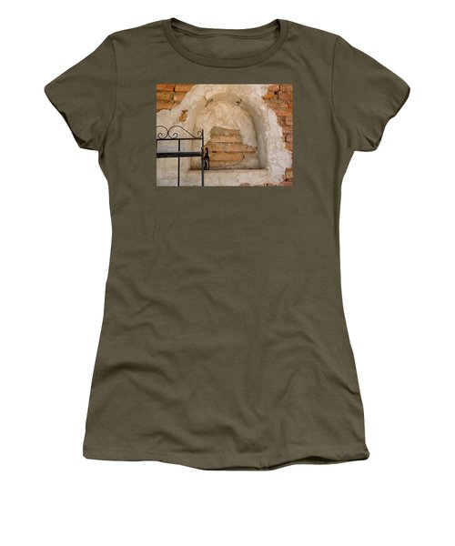 Women's T-Shirt (Athletic Fit) featuring the digital art Mortar And Beer by Lynda Lehmann