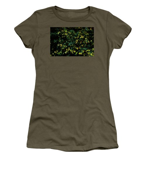 Women's T-Shirt (Athletic Fit) featuring the photograph Moss In Colors by Gene Garnace