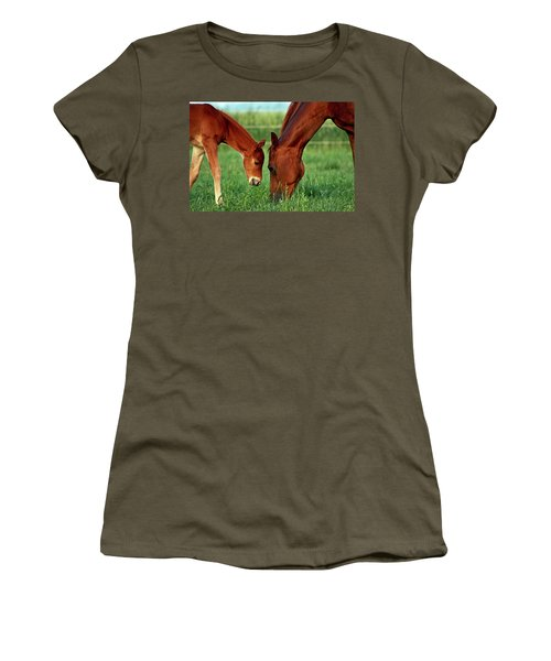 Mother And Foal 3377 H_2 Women's T-Shirt (Athletic Fit)