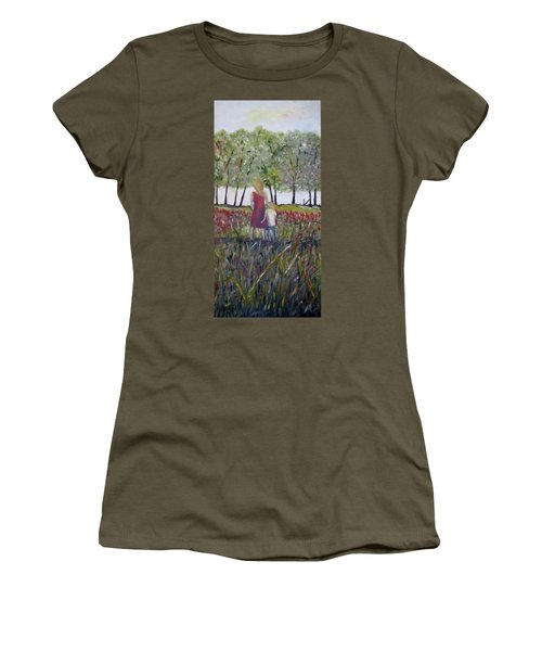 Women's T-Shirt (Junior Cut) featuring the painting Mother And Son by Marilyn  McNish