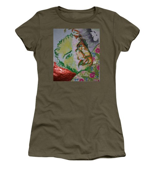 Women's T-Shirt (Junior Cut) featuring the painting Mothering Max by Tilly Strauss