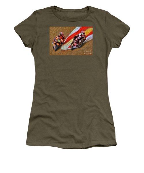 Moto2 Johann Zarco Leads Sam Lowes Women's T-Shirt (Athletic Fit)