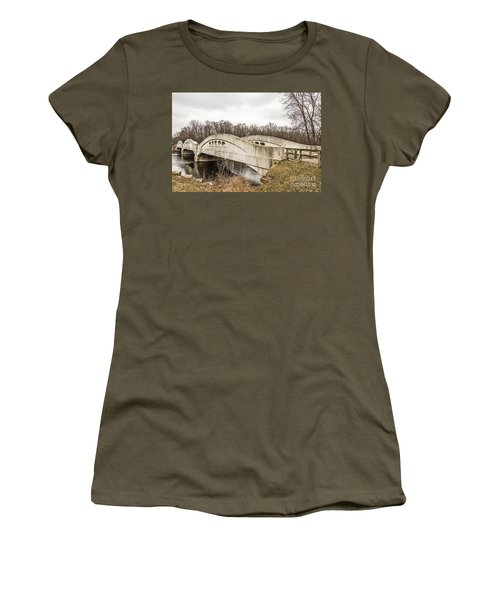 Mottville Bridge On Us 12 In Michigan Women's T-Shirt
